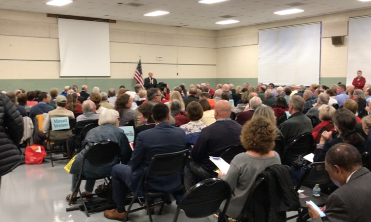 On April 24, the Fairfax County Republican Committee held its first membership meeting with chairman Tim Hannigan at the Green Acres Center.  Dozens of new members joined and the room was packed. As reported by the