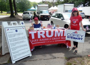 Farmers Market – Waving Flags for Corey Stewart on First Day of Summer