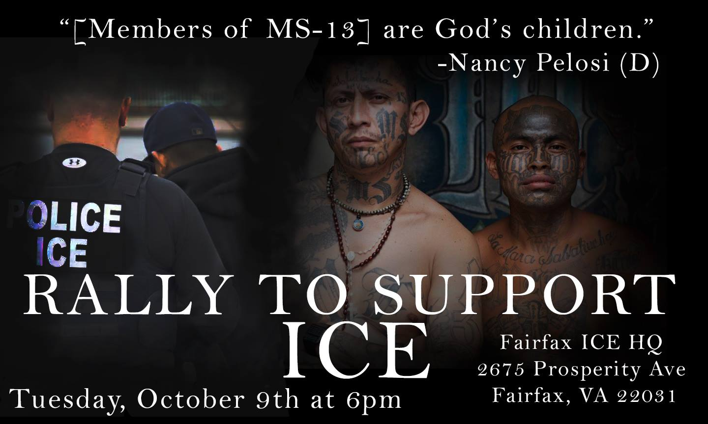 UPDATE: Rally to Support ICE October 9, 6PM Fairfax ICE HQ