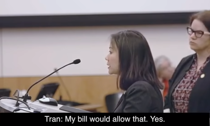 What a difference a year makes. Delegate Kathy Tran was elected to the House of Delegates in November 2017 and assumed office the following January. One year ago.