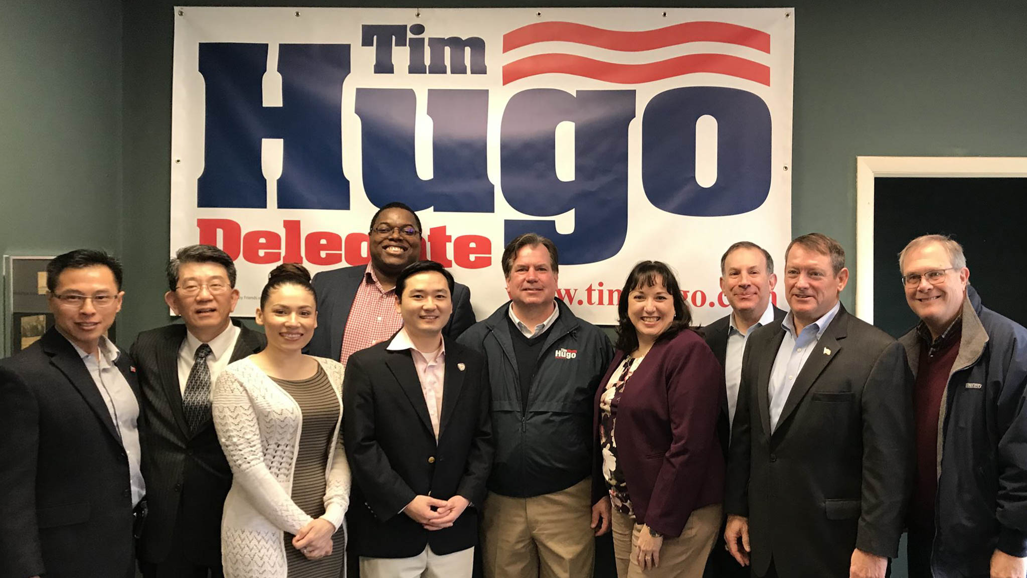 Hugo Kicks Off Re-Election Bid for House of Delegates