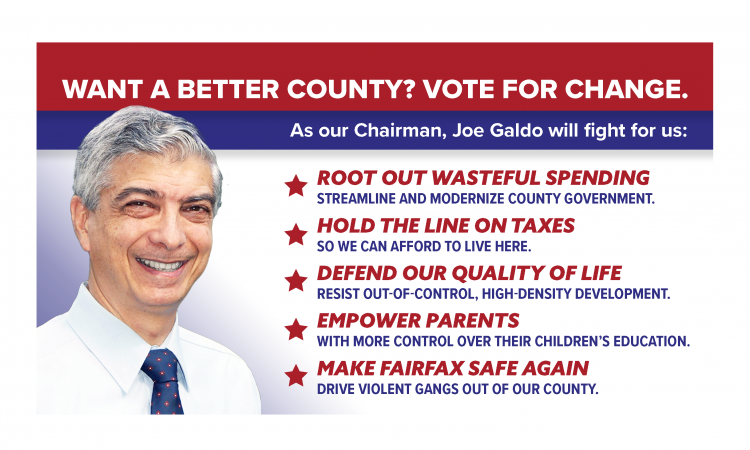 """I truly believe that, together, we can make Fairfax affordable again… we can make Fairfax safe again… and yes, we are going to make Fairfax great again!"""