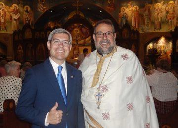 Gary Aiken Visits Saint Katherine Greek Orthodox Church