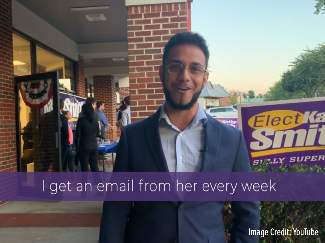 "Sully District Supervisor candidate Srilekha Palle is condemning her opponent Kathy Smith's decision to feature ""a notorious anti-Semite"" in a campaign endorsement video. Virginia Delegate Ibraheem Samirah's endorsement can be seen at the 28-second mark of the video, which the Smith campaign released late Monday night.