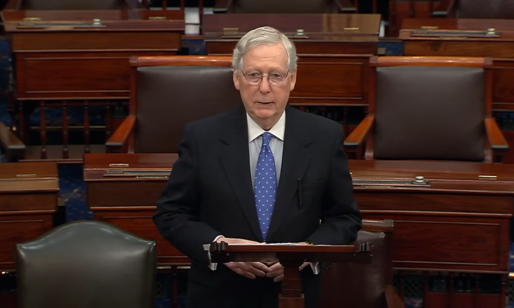 "Following House Democrats ""most rushed, least thorough, and most unfair impeachment inquiry in modern history,"" Senate Majority Leader Mitch McConnell slammed the nation"