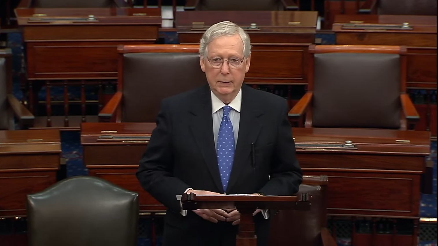 Senate Majority Leader Mitch McConnell Slams House Democrats' Impeachment Hoax