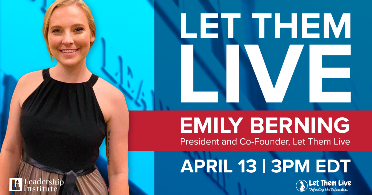 "Virtual Meeting with Emily Berning, Founder of ""Let Them Live"""