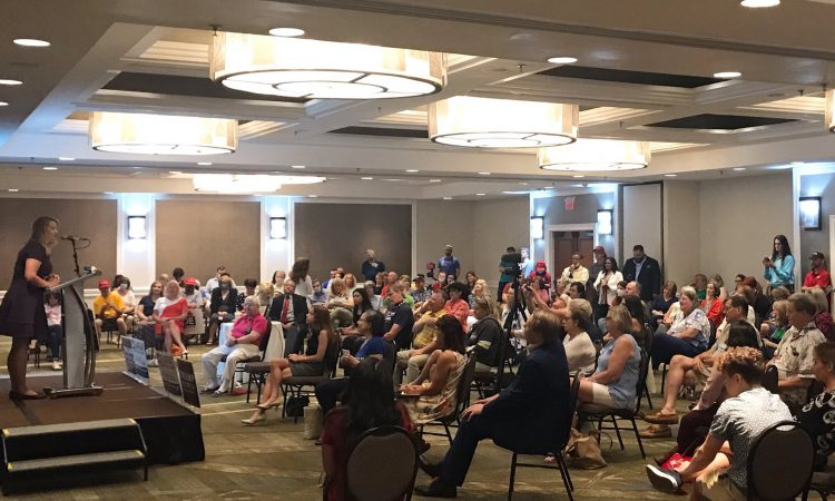 A crowd of more than 100 turned out for a July 7 rally with conservative activist Scott Presler, hosted by the Fairfax GOP.
