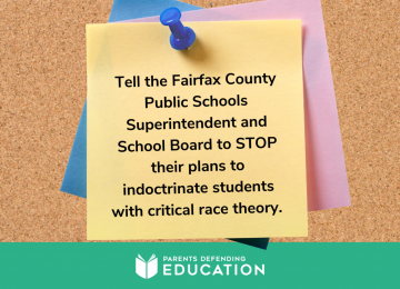 TAKE ACTION: Stop Critical Race Theory in Fairfax Schools