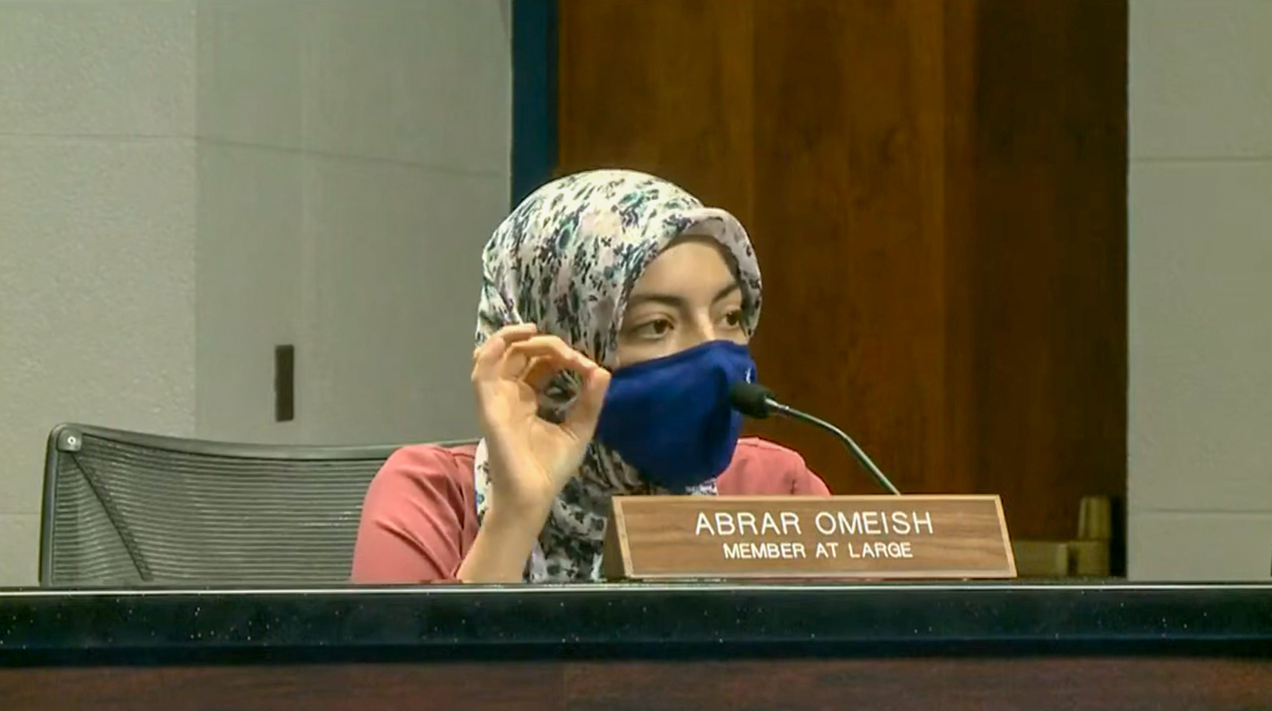 """Abrar Omeish derailed another school board meeting last night, as the embattled at-large member detailed her reasons for voting against a resolution to honor the victims of the 9/11 terrorist attacks. """"Why can we not also explicitly recognize the extensive and unwarranted structural discrimination and ethnic and religious profiling following 9/11 that tens of thousands of FCPS students experience on a daily basis,"""" Omeish asked."""